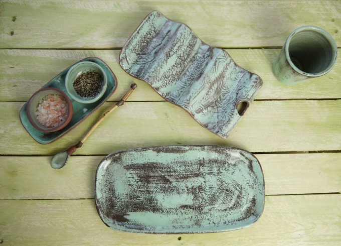 Taco full set topview,Stoneware,Slip and glaze,Weathered Range,SKnight
