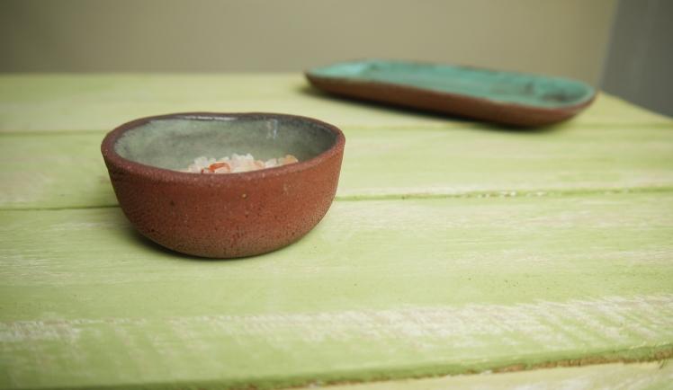 cruet detail of pot on table,Stoneware,Slip and glaze,Weathered Range,SKnight