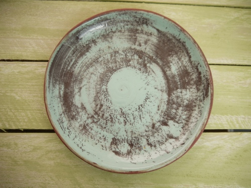round plate top view on table,Stoneware,Slip and glaze,Weathered Range,SKnight