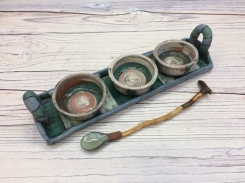 suzette-knight-ceramics-tray and dip bowls